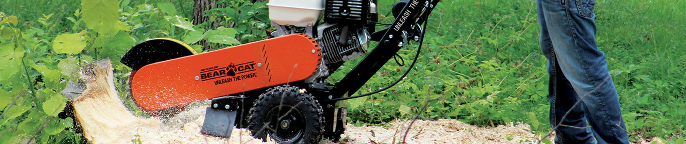 Crary Bear Cat SGPRO Stump Grinder in action